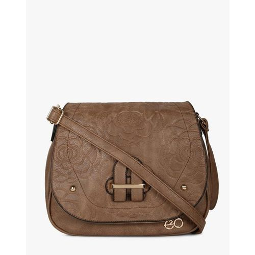 E20 Brown Sling Bag with Flap Closure