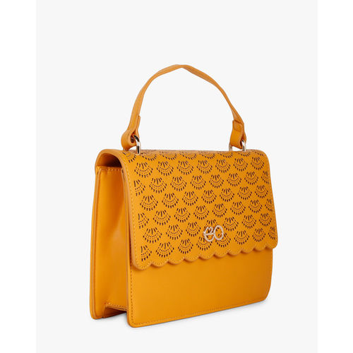 E20 Yellow Laser-Cut Sling Bag with Detachable Straps