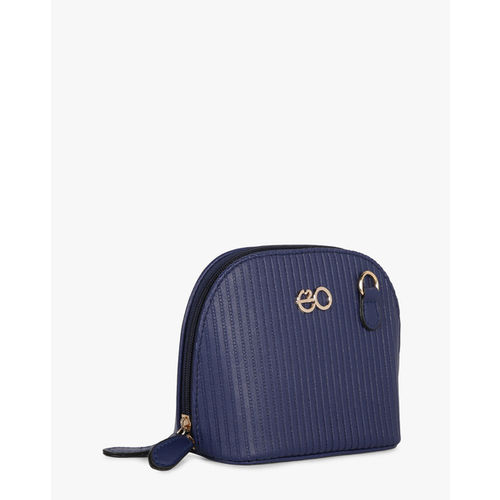 E20 Blue Textured Sling Bag with Detachable Sling