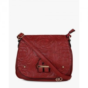 E20 Red Sling Bag with Flap Closure