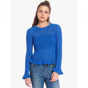 ONLY Blue Self Pattern Sweater