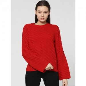 ONLY Red Solid Sweater