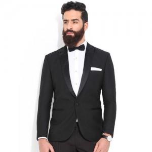 MR BUTTON Black Single-Breasted Blazer