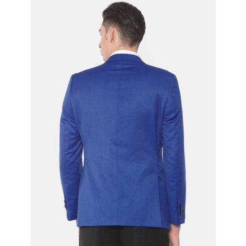 Raymond Men Blue Contemporary Fit Single-Breasted Casual Blazer