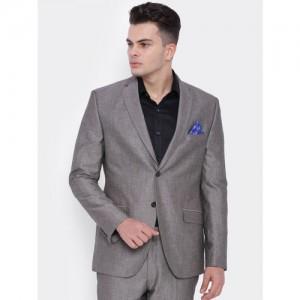 SUITLTD Grey Slim Fit Single-Breasted Formal Slim Fit Blazer