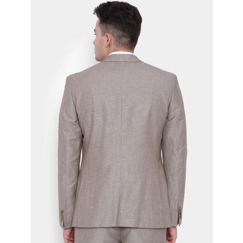 SUITLTD Beige Slim Fit Single-Breasted Formal Blazer