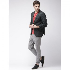 Mast & Harbour Navy Regular Fit Single-Breasted Casual Blazer