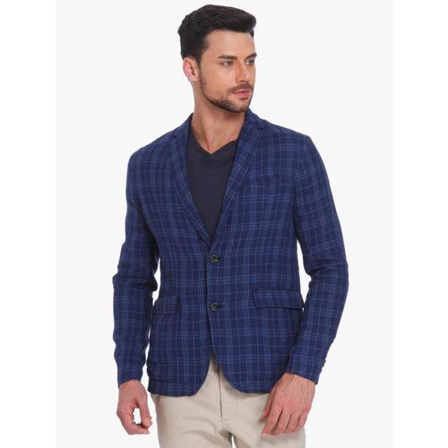 Jack & Jones Blue Checked Blazer