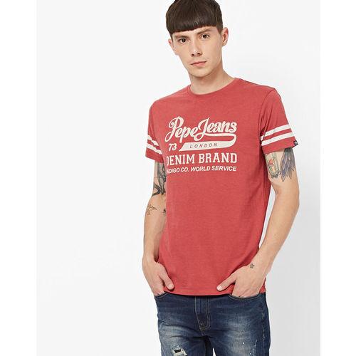 994c07b62d Buy Pepe Jeans Slim Fit Typographic Print Crew-Neck T-shirt online ...