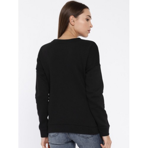 ONLY Women Black Black Printed Pullover