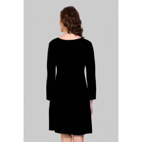 Crease & Clips Black Blended T Shirt Dress