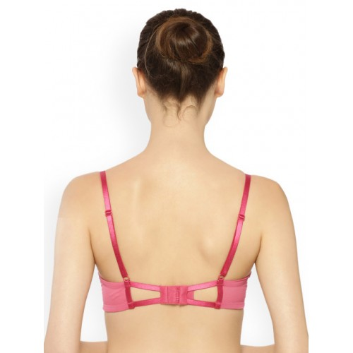 Triumph Pink Lace Underwired Lightly Padded T-shirt Bra