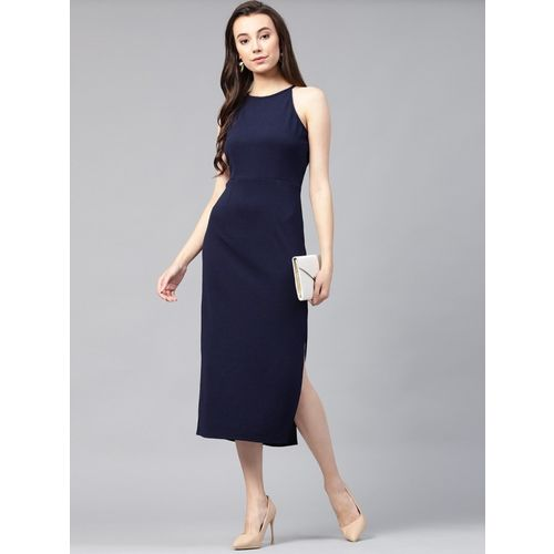 2e2a927206 Buy Zima leto Blue Cotton Fit and Flare Dress online