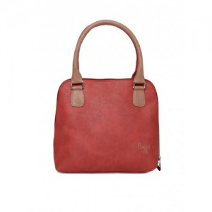 Baggit Red & Pink Synthetic Solid Handheld Bag