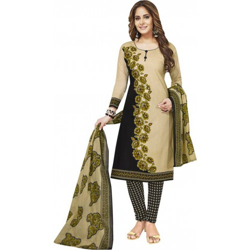 Multi Color Cotton Polyester Casual Printed Salwar Suit