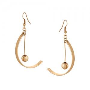 OOMPH Gold-Toned Geometric Drop Earrings