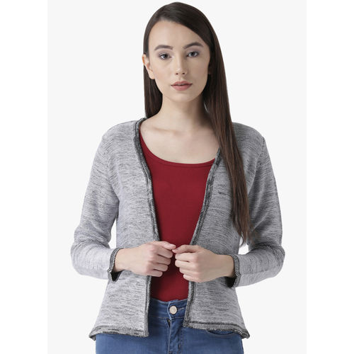 Club York Grey Self Design Cardigan