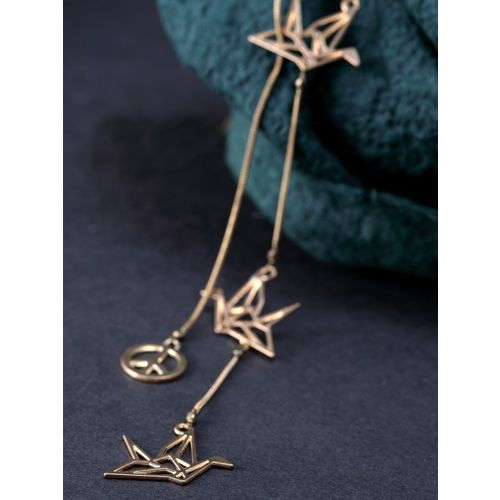 DIVA WALK Gold-Toned Metal Handcrafted Gold-Plated Necklace
