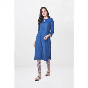Global Desi Blue Regular Fit Kurta