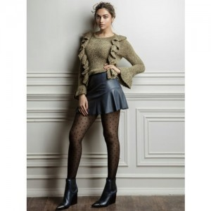 all about you from Deepika Padukone Women Olive Green Solid Ruffled Pullover