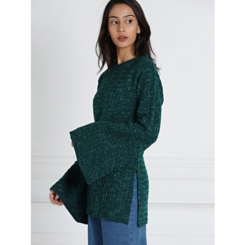 ... all about you from Deepika Padukone Women Teal Green Self-Design  Pullover ... a61da7f19