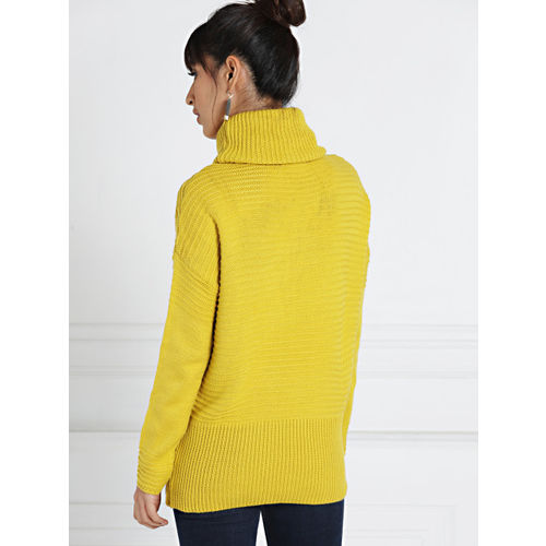 all about you from Deepika Padukone Women Yellow Solid High Neck Sweater