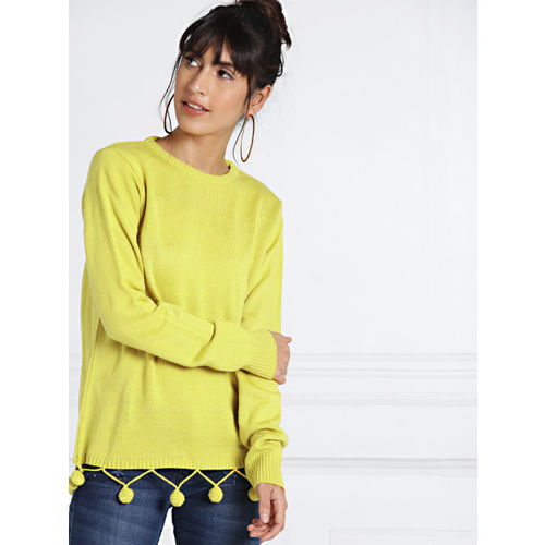all about you from Deepika Padukone Women Mustard Yellow Solid Pullover