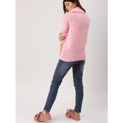 all about you from Deepika Padukone Women Pink Self-Design Pullover