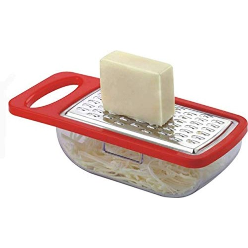 KK Cheese Red Grater and Slicer/Vegetables and Cheese Grater with Container
