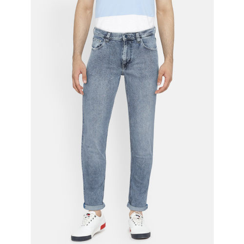 Lee Men Blue Bruce Skinny Fit Mid-Rise Clean Look Stretchable Jeans