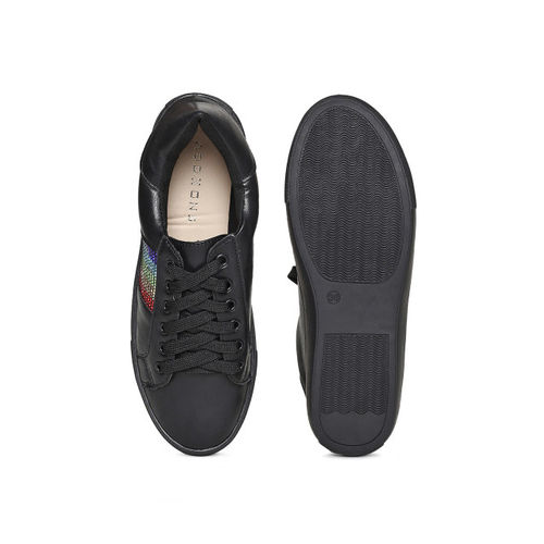 Addons Women Black Sneakers