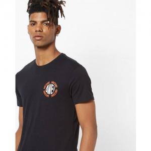 Levis Black Printed Regular Fit Round Neck T-Shirt