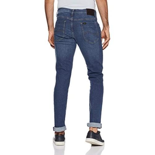 Lee Men's Skinny Fit Jeans (L32142248147_Brushed Ms_28W x 33L)