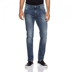 Lee Men's Skinny Fit Jeans (L272512481KE_Sprayed Ms_28W x 33L)