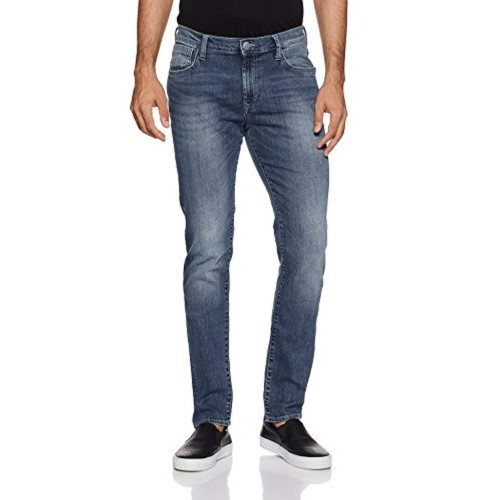 Lee Men's Skinny Fit Jeans (L272512481KE_Sprayed Ms_28W x 33L)