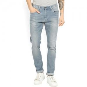 Lee Blue Cotton Skinny Fit Jeans