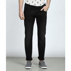 Lee Black Cotton Slim Jeans