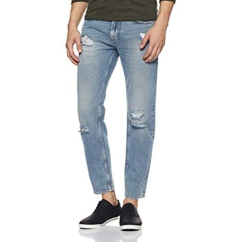 Lee Blue Cotton Denim Slim Fit Casual Jeans