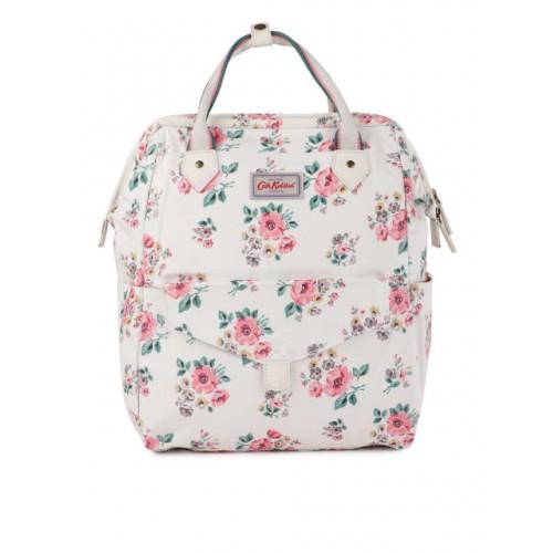 e574e98a2b ... Cath Kidston Women Cream-Coloured Floral Printed Frame Backpack ...