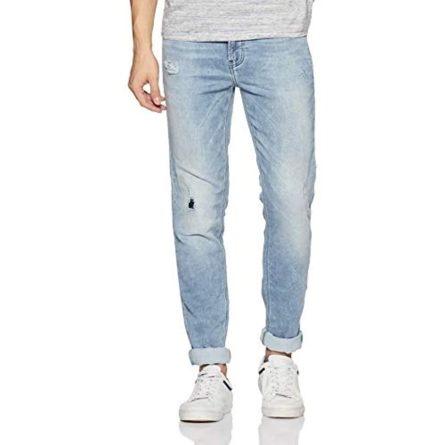 United Colors of Benetton Blue Cotton Denim Slim Fit Casual Jeans