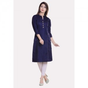 Vastranikhar Casual Solid Women Kurti(Dark Blue)