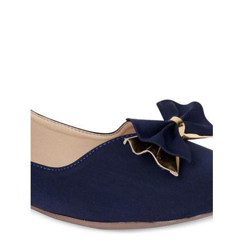 Shoetopia Women Blue Ballerinas