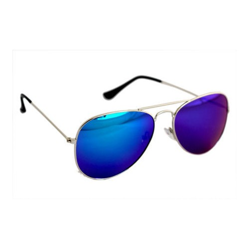 Derry Blue Aviator Sunglasses
