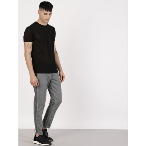 ether Men Grey Regular Fit Mid-Rise Clean Look Jeans