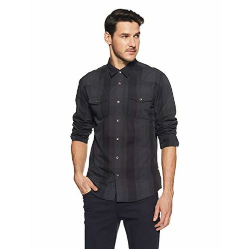 Pepe Jeans Beat London Men's Checkered Slim Fit Casual Shirt
