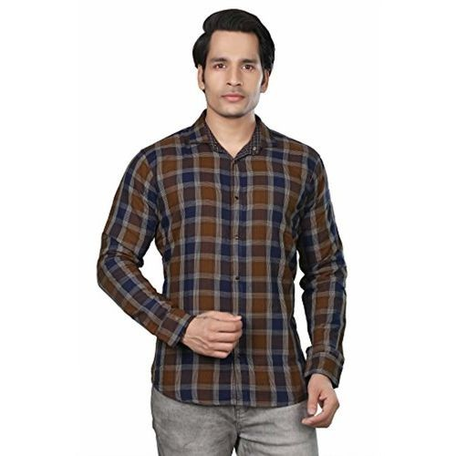 Private Image Meraki by Reversible Casual Brown Colour Cotton Shirts for Mens