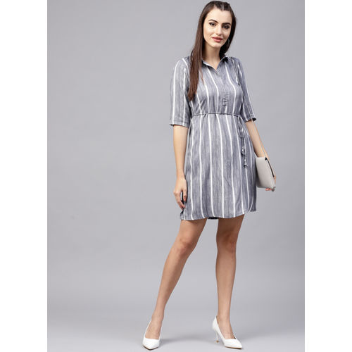 GERUA Grey Striped Shift Dress