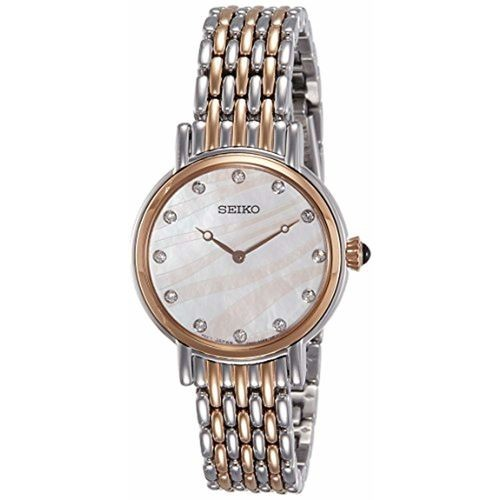 Seiko Analog Mother of Pearl Dial Women's Watch-SFQ806P1
