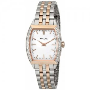 Bulova Diamond Analog White Dial Women's Watch-98R200