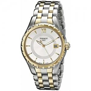 Tissot Women's T0722102203800 T-Lady Analog Display Swiss Quartz Two Tone Watch